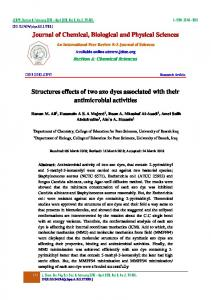 Journal of Chemical, Biological and Physical Sciences Structures ...