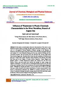Journal of Chemical, Biological and Physical Sciences Influence of