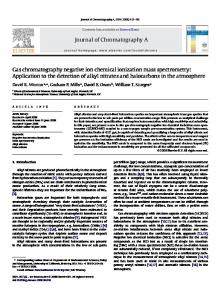 Journal of Chromatography A Gas chromatography