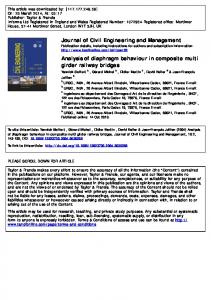 Journal of Civil Engineering and Management ...