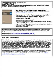 Journal of Civil Engineering and Management