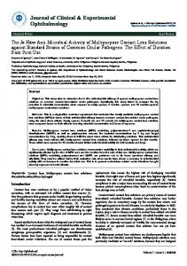 Journal of Clinical & Experimental Ophthalmology - Semantic Scholar