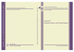 Journal of Computer Science and Control Systems ...