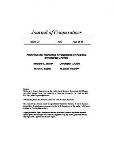 Journal of Cooperatives - AgEcon Search
