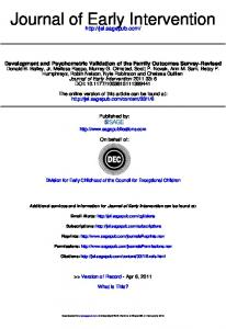 Journal of Early Intervention - The Early Childhood Technical ...