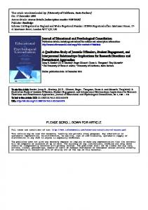 Journal of Educational and Psychological