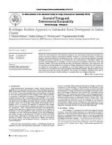 Journal of Energy and Environmental Sustainability Ecovillages ...