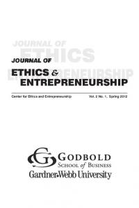 JOURNAL OF ETHICS ENTREPRENEURSHIP - University of Toledo