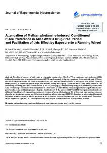 Journal of Experimental Neuroscience Attenuation of ... - SAGE Journals