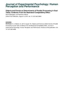 Journal of Experimental Psychology: Human Perception and ...