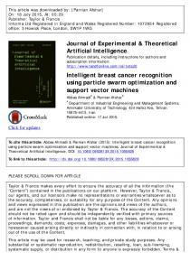 Journal of Experimental & Theoretical Artificial ...