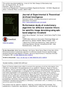 Journal of Experimental & Theoretical Artificial