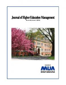 Journal of Higher Education Management