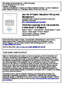 Journal of Higher Education Policy and Management ...