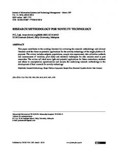 Journal of Information Systems and Technology Management
