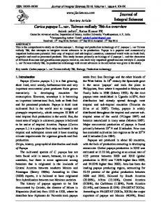 Journal of Integral Sciences Carica papaya L. var