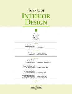 Journal of InterIor DesIgn