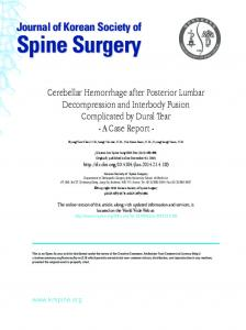 Journal of Korean Society of Spine Surgery