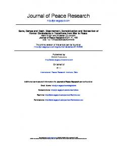 Journal of Peace Research - Offiziere.ch