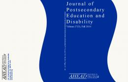 Journal of Postsecondary Education and Disability