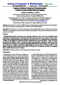 Journal of Proteomics & Bioinformatics - Open ... - Semantic Scholar