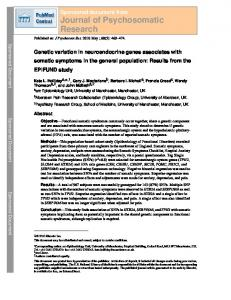 Journal of Psychosomatic Research