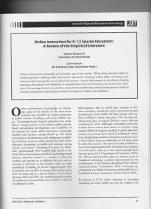 Journal of Special Education Technology - Vasquez Village