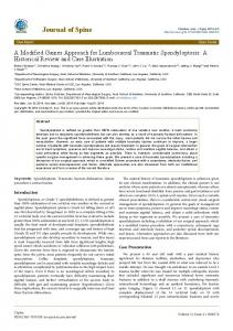 Journal of Spine