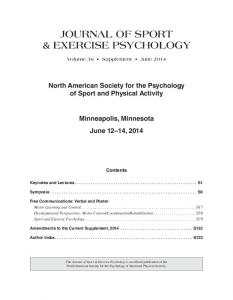 journal of sport & exercise psychology
