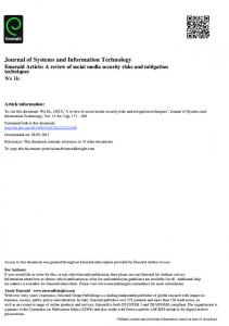 Journal of Systems and Information Technology