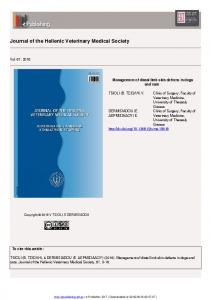 Journal of the Hellenic Veterinary Medical Society