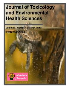 Journal of Toxicology and Environmental Health ...