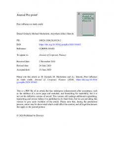 Journal Pre-proof www.researchgate.net › Peer-Influence-on-Trade-Credit