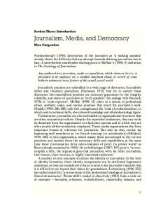 Journalism, Media, and Democracy
