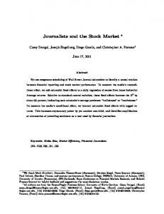 Journalists and the Stock Market