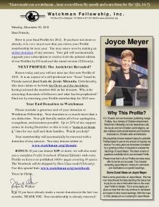 Joyce Meyer: Profile - Watchman Fellowship