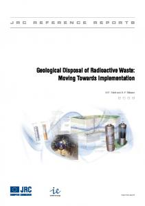 JRC-IE Geological Disposal of Radioactive Waste ... - David Smythe