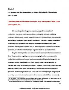 Judgment and the Balance of Principles in Criminal ... - SSRN papers