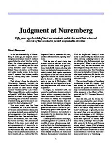 judgment at nuremburg essay
