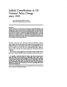 Judicial Contributions to US National Policy Change ... - Matt Grossmann