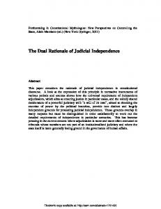 Judicial Independence as Constitutional Principle - SSRN papers