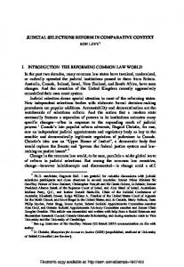 JUDICIAL SELECTIONS REFORM IN COMPARATIVE ... - SSRN papers