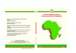 July, 2010 Vol 4. No.1 July, 2010 - African Union