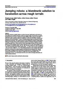 Jumping robots: a biomimetic solution to ... - Semantic Scholar
