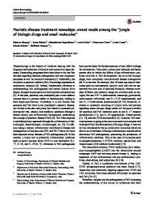 jungle of biologic drugs and small molecules - Springer Link