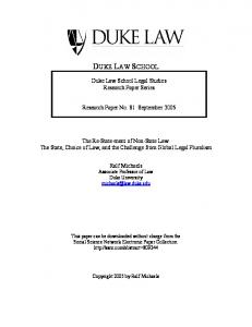 Jurisdiction as Globalization - SSRN papers