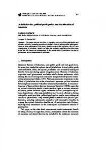 Jurisdiction size, political participation, and the ...