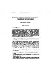 JURISDICTIONAL ARREST OF A FOREIGN ... - SSRN papers
