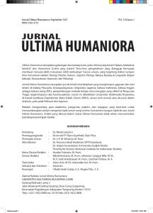 Jurnal Humaniora, Vol 1, No 2, September 2013