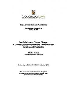 Just Solutions to Climate Change: A Climate Justice ... - SSRN papers